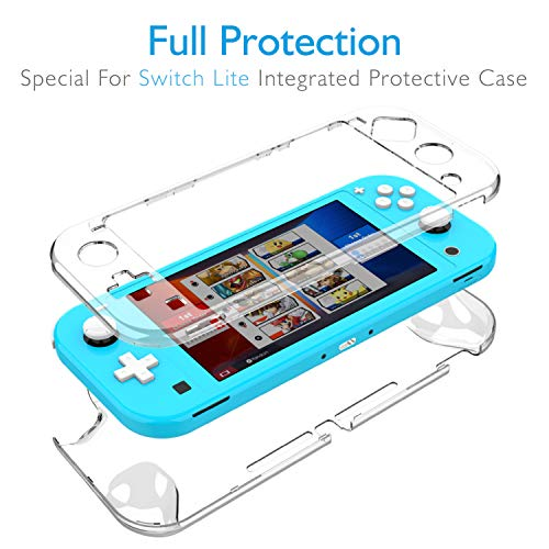 HEYSTOP Compatible Nintendo Switch Lite Case with Screen Protector,Full Protection Cover Case for Nintendo Switch Lite with 6 Thumb Grips Caps