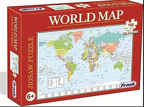 Buy Frank World Map Puzzle- Giant Sized 108 pcs Jigsaw ...