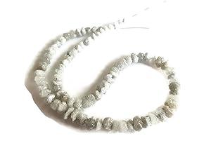 16 Inch Strand, 3-4mm White Conflict Free Diamonds Beads, Uncut Raw Rough Diamond Beads, SKU-DdW211