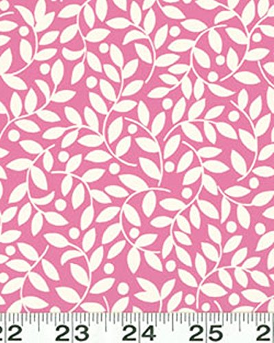- 1 Yard Suzette by Sue Zipkin from Clothworks Pink Leaves 100% Cotton Quilt Fabric Y0910-42 Pink