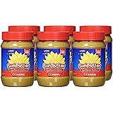 SunButter Sunflower Butter, Delicious, Creamy Alternative to Peanut Butter, 16 ounce plastic jars, Pack of 6