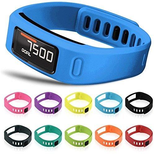 Multi Color Wristband (Snapsity© Set of 10 Multi-Color Replacement Wrist Bands For Garmin Vivofit With Clasps Vivofit Bracelets)