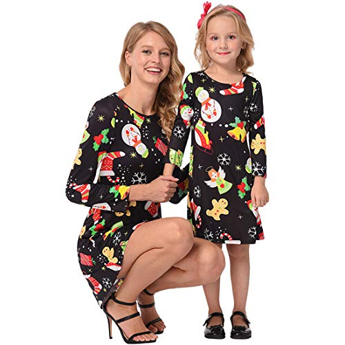 Little Mommy Twin Dolls (Toponly Cute Family Matching Clothes Mommy Me Christmas Long Sleeve Dress)