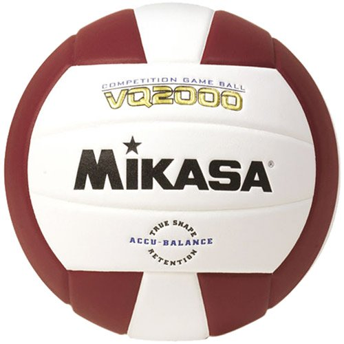 (One Size, Maroon/白い) - Mikasa VQ2000 Micro Cell Volleyball