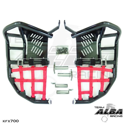 Kawasaki KFX 700 (2004-2009) Propeg Nerf Bars Black Bars w/Red ()