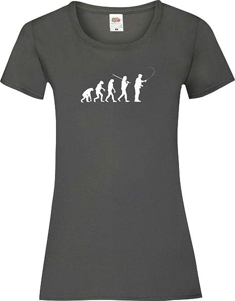Shirtinstyle Evolución de la Camisa de señora Peces De Pesca ...