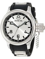 Invicta Mens 1435 Russian Diver Silver Dial Rubber Watch