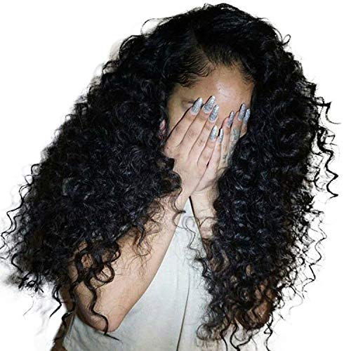 Deep Curly Lace Front Human Hair Wigs For Women 250% Density Hair Lace Frontal Wig Pre Plucked -