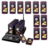 Retekess T112 Restaurant Pager System 30 Pagers Max 999 Buzzer with 30 Beepers Wireless Calling Paging System for Restaurants Food Truck Nurse Church
