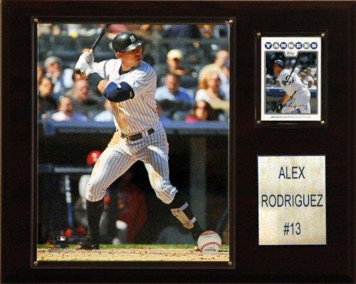(MLB Alex Rodriguez New York Yankees Player Plaque)