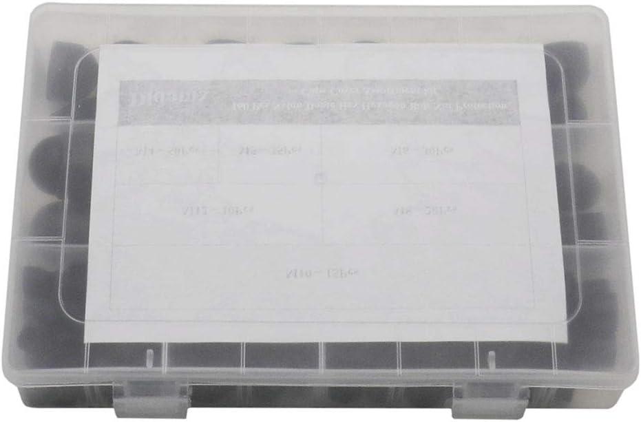 Didamx 160 Pcs Nylon Dome Hex Hexagon Bolt Nut Protection Caps Cover M4 M5 M6 M8 M10 M12 Assortment kit