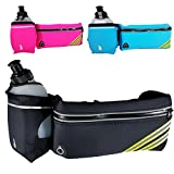 ANJ Outdoors New! Hydration Running Belt with Water Bottle | Waterproof Waist Pack for Men and Women | Universal Size to Hold Cell Phone, Wallet, and Keys (Black) Review