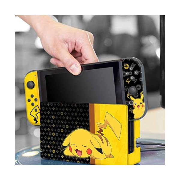 Controller Gear Nintendo Switch Skin & Screen Protector Set - Pokemon - Pikachu Set 1 - Nintendo Switch 8