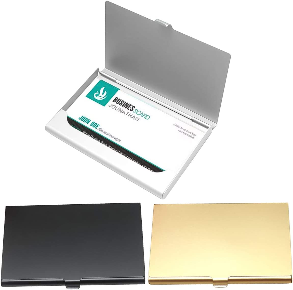 INHEMI Porte Carte De Cr/édit,Lot de 3 Porte Carte de Visite en INOX,Porte Carte Bancaire Protection Carte Bancaire RFID Porte Carte Anti Piratage Etui Carte Bancaire Anti Piratage