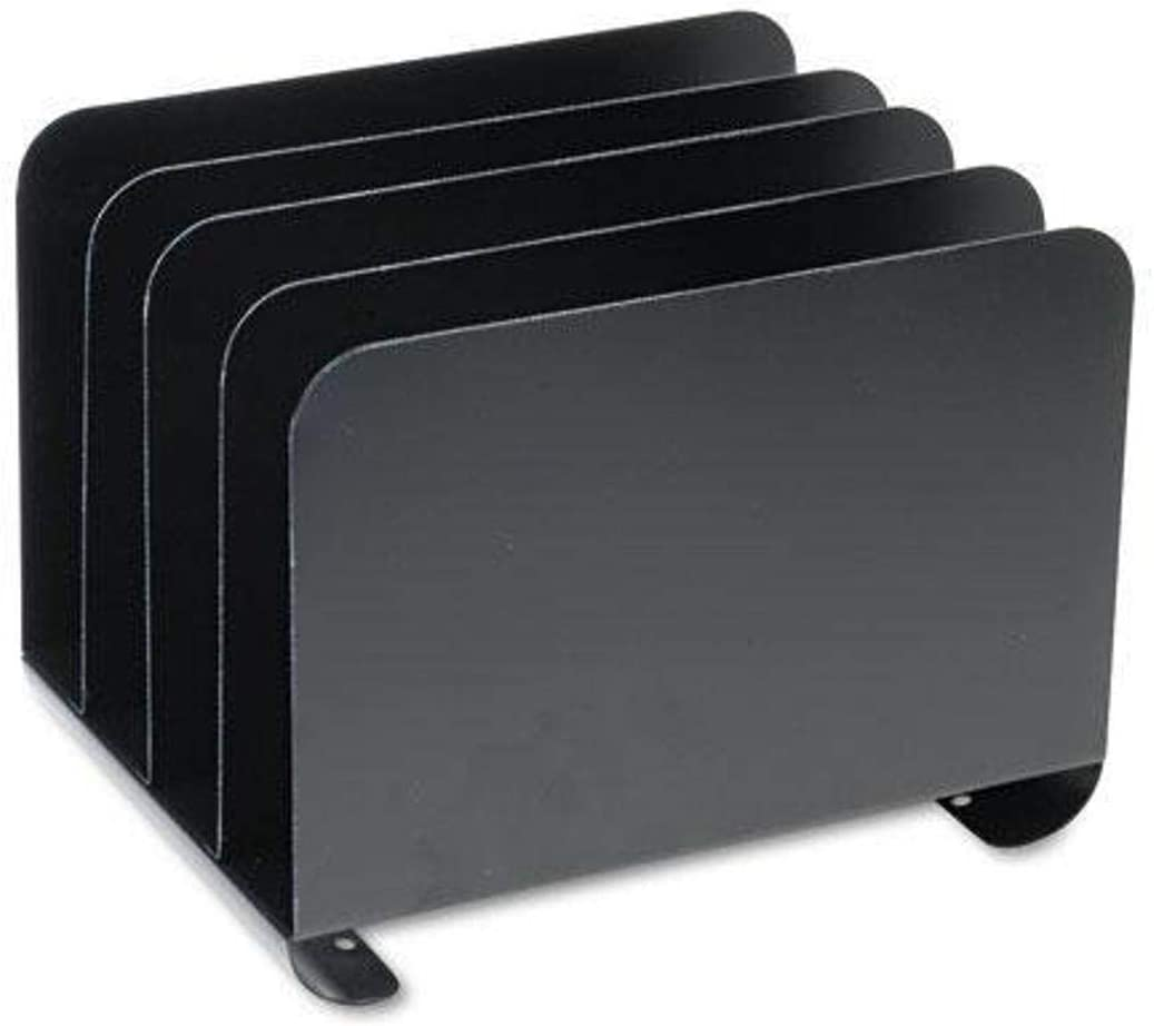 "STEELMASTER Desktop Vertical Organizer, 4 Sections, Steel, 8"" x 8.13"" x 11"", Black (2644BLA)"