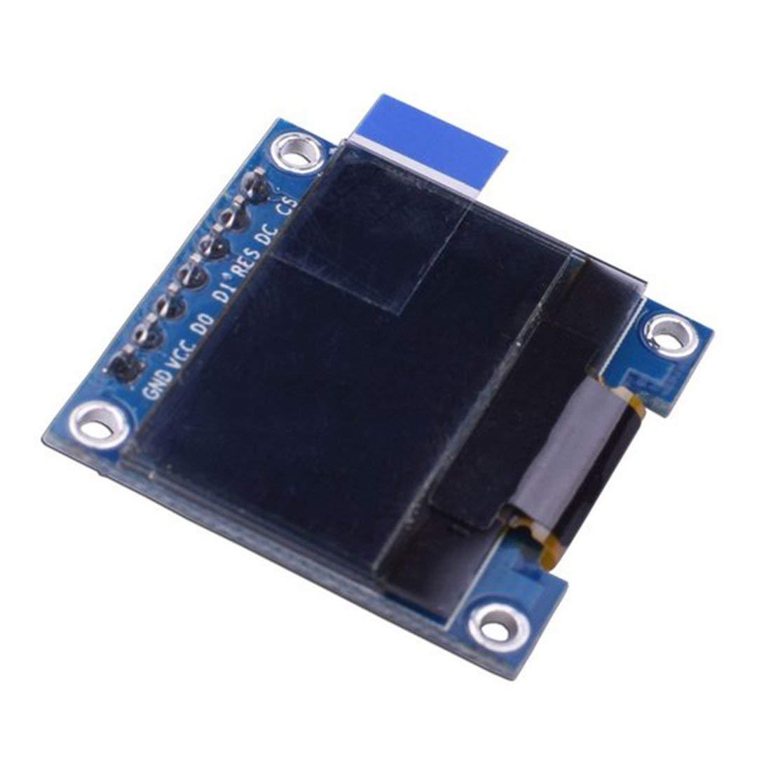 0, 96 Zoll 7 Pin 128 x 64 SPI OLED-Anzeigenmodul fü r Arduino-kompatible SCM- und DIY-Kits Modulplatine SPI OLED-Anzeige - Blau Sanzhileg