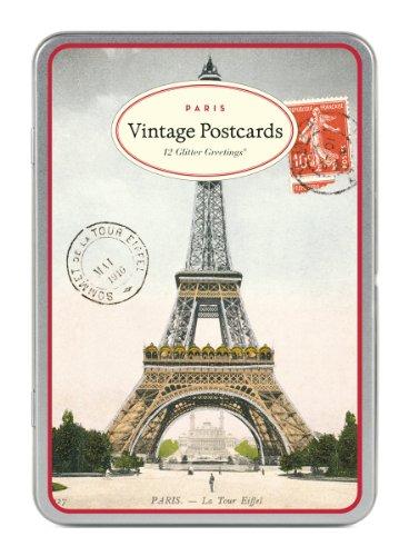 Cavallini & Co. Vintage Paris Glitter Greetings Postcards (Paris Vintage)