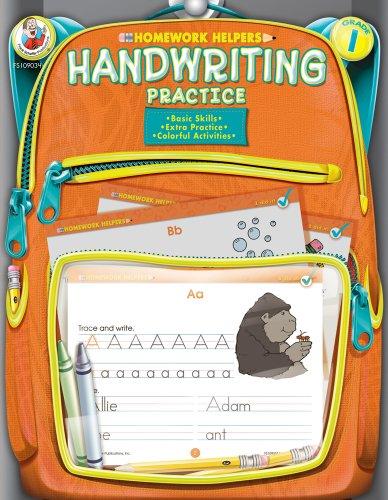 Handwriting Practice Homework Helper, Grade 1