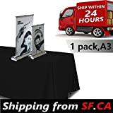 1 pc,11.5x16.5,A3 - Desktop Mini Retractable Roll up Banner Stand