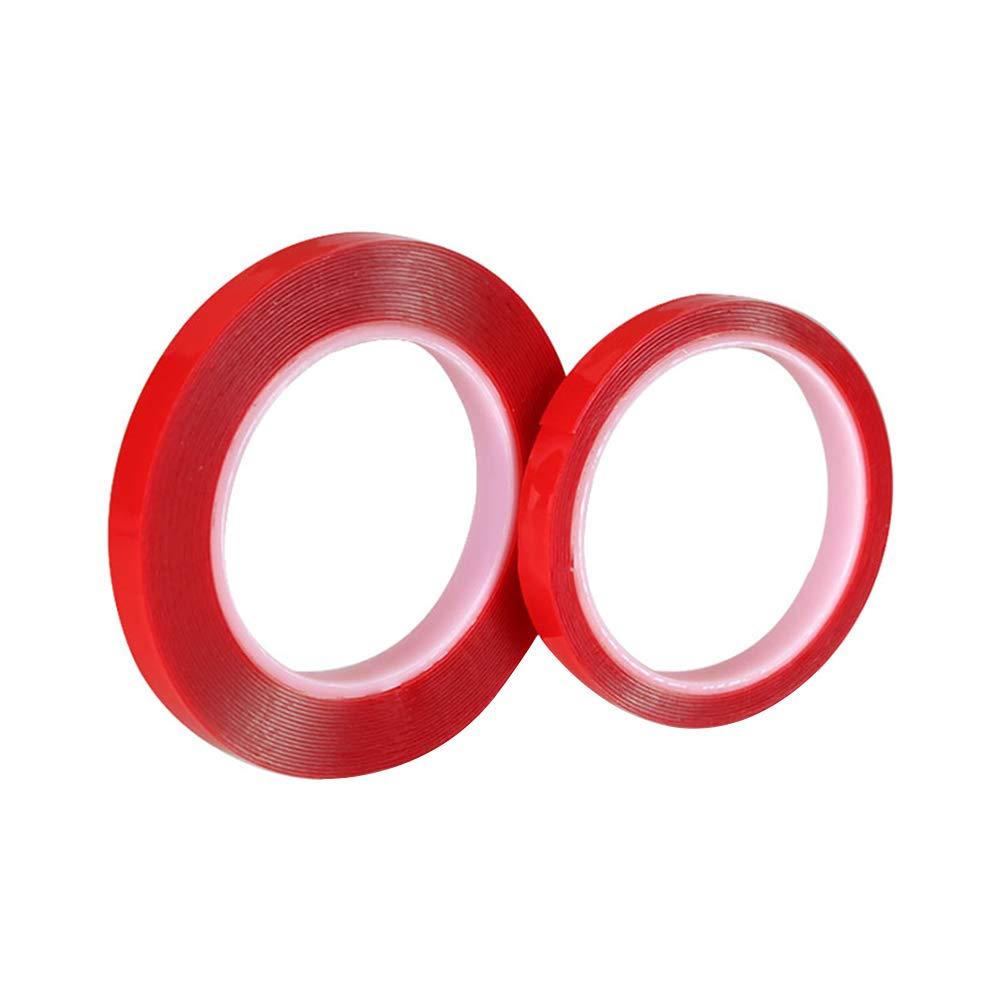 Adesivo biadesivo impermeabile trasparente, rullo biadesivo acrilico per alte temperature 2 m / 6 m WMFL