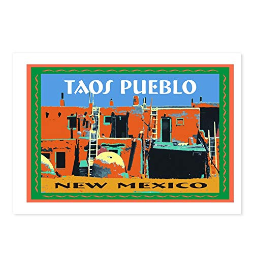CafePress Taos Pueblo New Mexico Postcards (Package of 8), 6