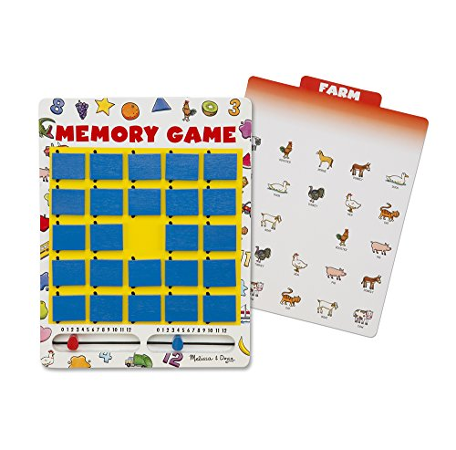 Melissa & Doug Flip to Win Travel Memory Game - Wooden Game Board, 7 Double-Sided (Melissa And Doug Sale)