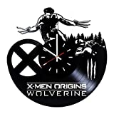 Everyday Arts X-Men Origins Wolverine Design Vinyl Record Wall Clock - Get Unique Bedroom or Garage Wall Decor - Gift Ideas for Friends, Brother - Darth Vader Unique Modern Art