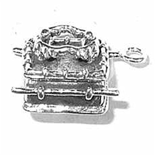 Sterling Silver 3D Bibles Jewish Ark Of The Covenant Religious Charm