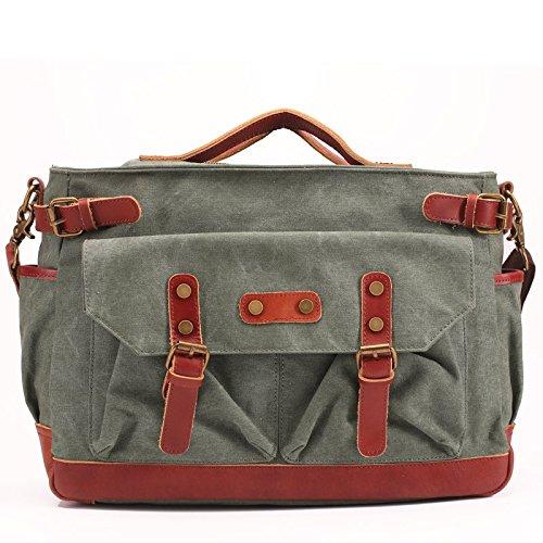 DJB/Herren Leinwand Tasche Retro Schultertasche Messenger Bag Aktentasche blau x7IS1eu