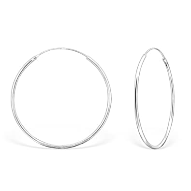on feet images of cost charm release info on DTPSilver - 925 Sterling Silver Hoops Earrings - Thickness 1.2 mm ...
