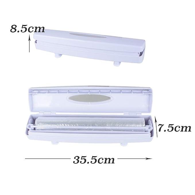 Cortador de Envoltura de Plástico Dispensador Cortador Film Transparente Cocina: Amazon.es: Salud y cuidado personal