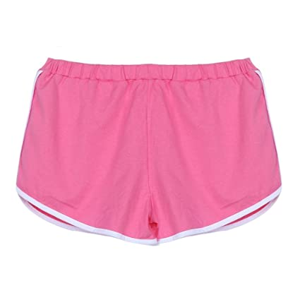 694a94438d Buy Hot Yoga Shorts! AMA(TM) Women Summer Sports Gym Yoga Shorts Workout  Waistband Fitness Athletic Short Pants (L, Pink) Online at Low Prices in  India ...