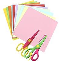 Cyjzheu Meerkleurige Kaart 100 Stuks Gekleurd Kunstpapier en Decoratief Papier Randschaar Gekleurde Kartonnen Vellen…
