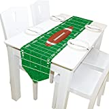Yochoice Table Runner Home Decor, Stylish American Football Field and Ball Table Cloth Runner Coffee Mat for Wedding Party Banquet Decoration 13 x 70 inches