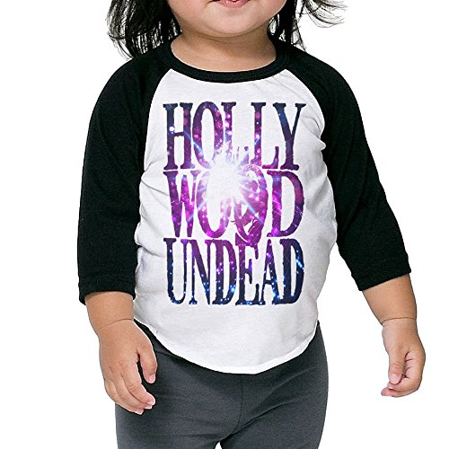 Lil Wayne Vice (Toddler Hollywood Undead Logo For T Shirt Photo 100% Cotton 3/4 Sleeve Athletic Baseball Raglan Tee Shirts Black US Size 4 Toddler)