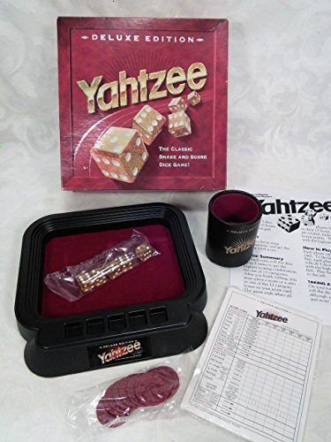 1997 Yahtzee Deluxe Edition The Classic Shake and Score Dice Game from Milton Bradley