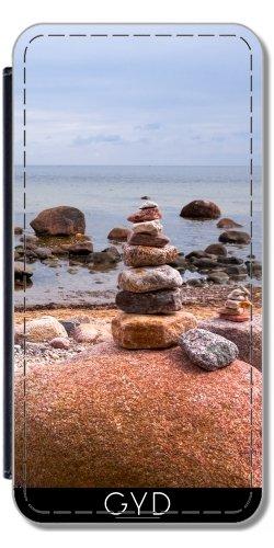 Leder Flip Case Tasche Hülle für Apple Iphone 7 Plus / 8 Plus - Sea-Website by UtArt