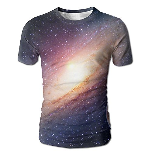 JeanCo Mens Astrology Astronomy Earth Moon Space Big Bang Solar System Planet Creation Elements Of This Image Casual Style Tees White M