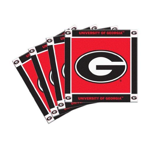 Boelter Brands NCAA Georgia Bulldogs 4-Pack Ceramic Coasters