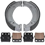 Caltric FRONT REAR BRAKE PADS SHOES Fits YAMAHA GRIZZLY 600 YFM600 YFM-600 1998 1999 2000 2001 NEW