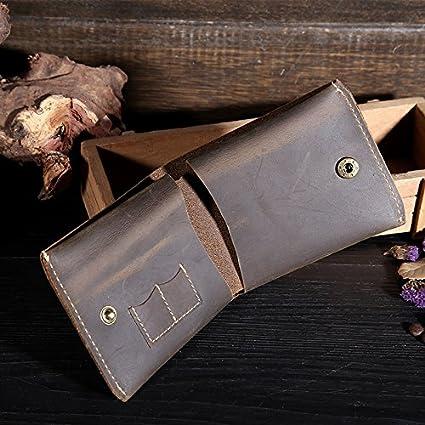 Monedero de cuero, capa de efectivo, sencillo, personalizado ...