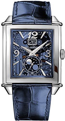 Girard-Perregaux-Vintage-1945-XXL-Blue-Skeleton-Moonphase-Mens-Watch