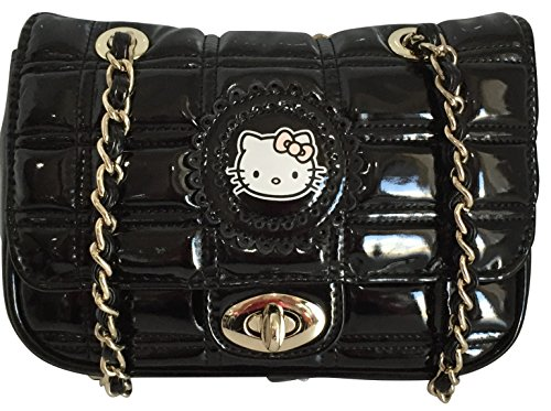 Hello Kitty by Victoria Couture Sanrio Womens Zip Up Case Black Patent Leather