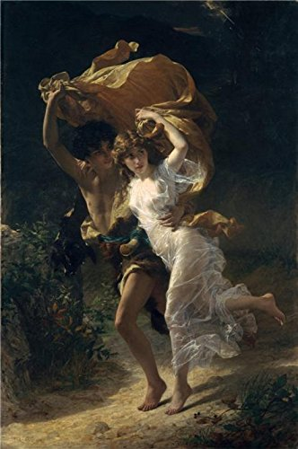 Oil Painting 'Pierre Auguste Cot-The Storm,1880' Printing On High Quality Polyster Canvas , 24x36 Inch / 61x92 Cm ,the Best Hallway Decoration And Home Decor And Gifts Is This High Definition Art Decorative Canvas Prints