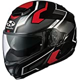 オージーケーカブト(OGK KABUTO)バイクヘルメット システム IBUKI DARK(ダーク) フラットブラックレッド (サイズ:L) 571221