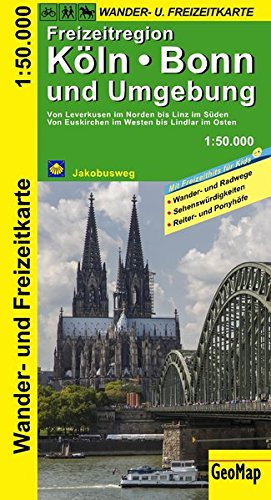 Köln, Bonn und Umgebung - Wander- und Freizeitkarte (Geo Map) 1:50T