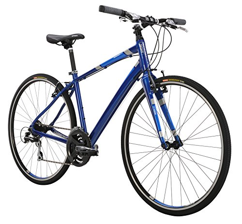 Diamondback Bicycles 2015 Insight 2 Complete Performance Hybrid Bike, 18-Inch/Medium, Matte Blue