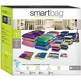 Pro-Mart SmartBag Original, 4 Large, 3 XL, 3 Medium, 1 Jumbo, Green, Set of 11