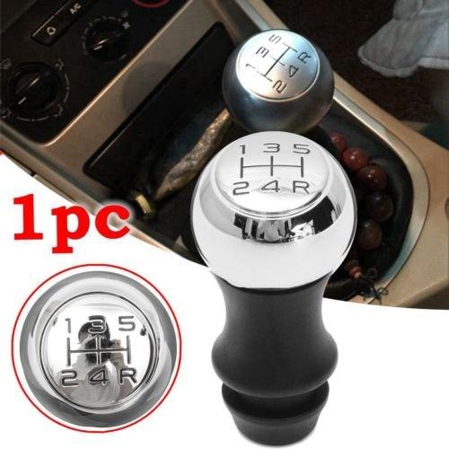 Ocamo Perilla para palanca de caja de cambios, para Peugeot 106 206 207 306 307 407 408 508, 5 velocidades, cromo