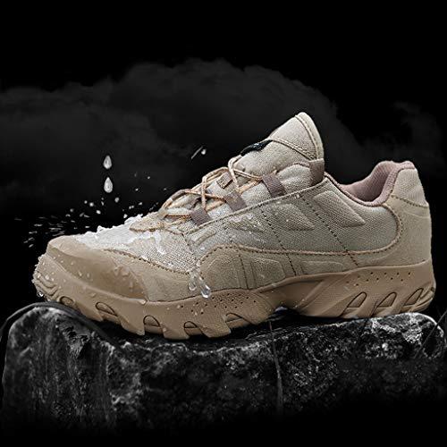 HJHHJHAB Bottes de l'armée Tactique Hommes Chaussures de Sport Basses imperméables Chaussures de randonnée en Plein air… 3